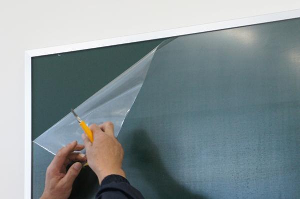 大型黒板取付施工レポート6