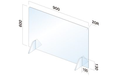 飛沫感染防止 飛散防止パネル 幅900mm